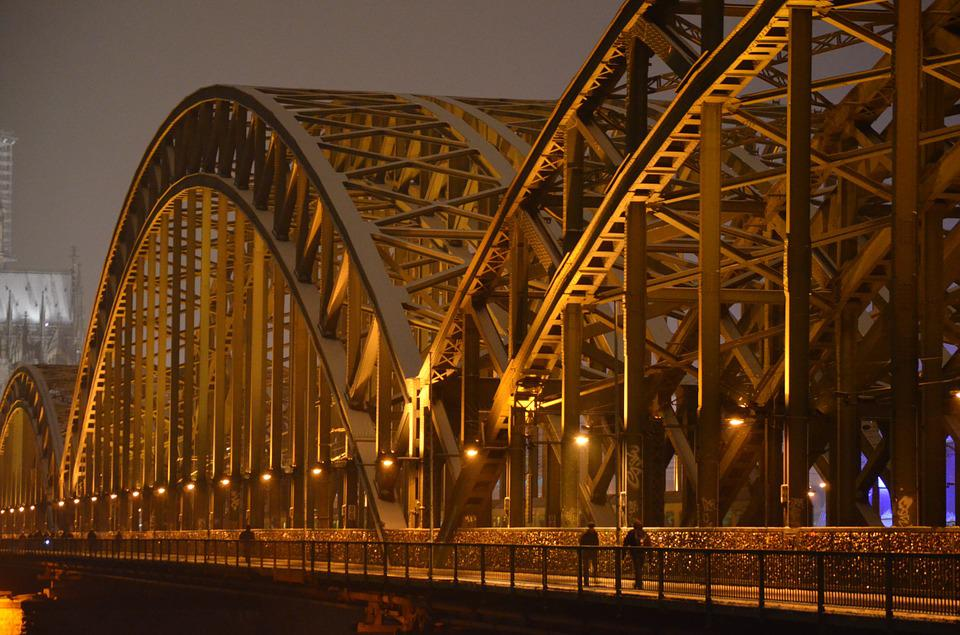 Hohenzollern Bridge, Cologne, Railway Bridge