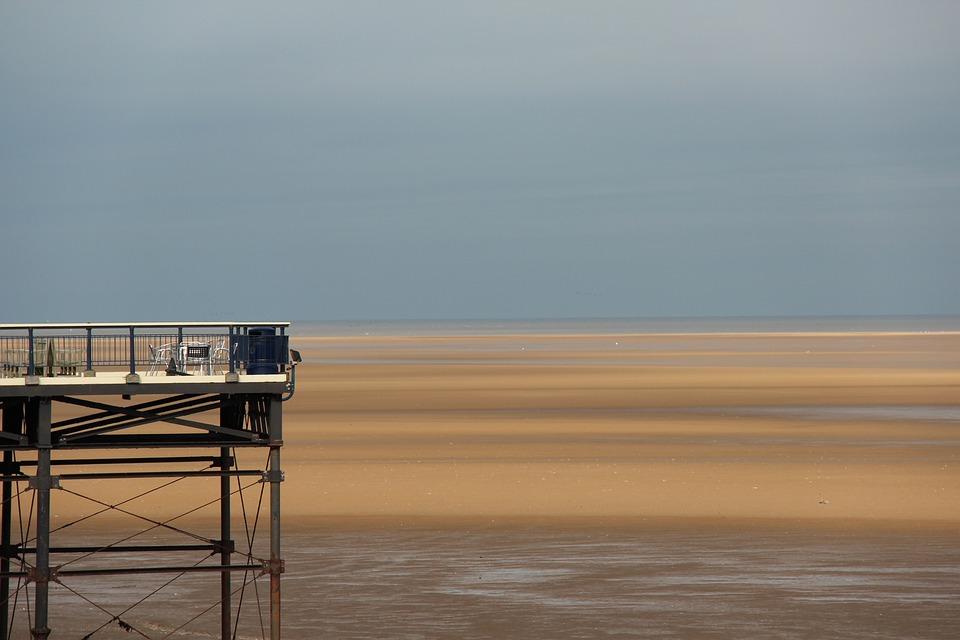 Beach, Tide, Hoizon, Ocean, Sea, Water, Sand, Sky
