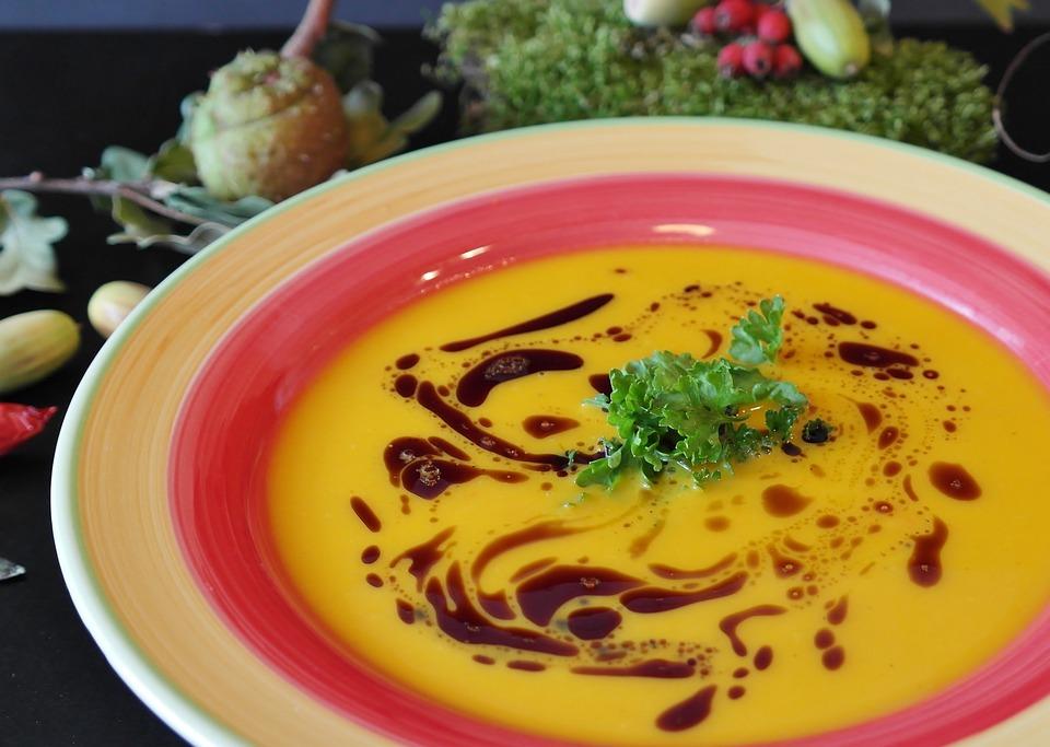 Pumpkin Soup, Hokkaido, Potato, Parsley, Carrot, Ginger