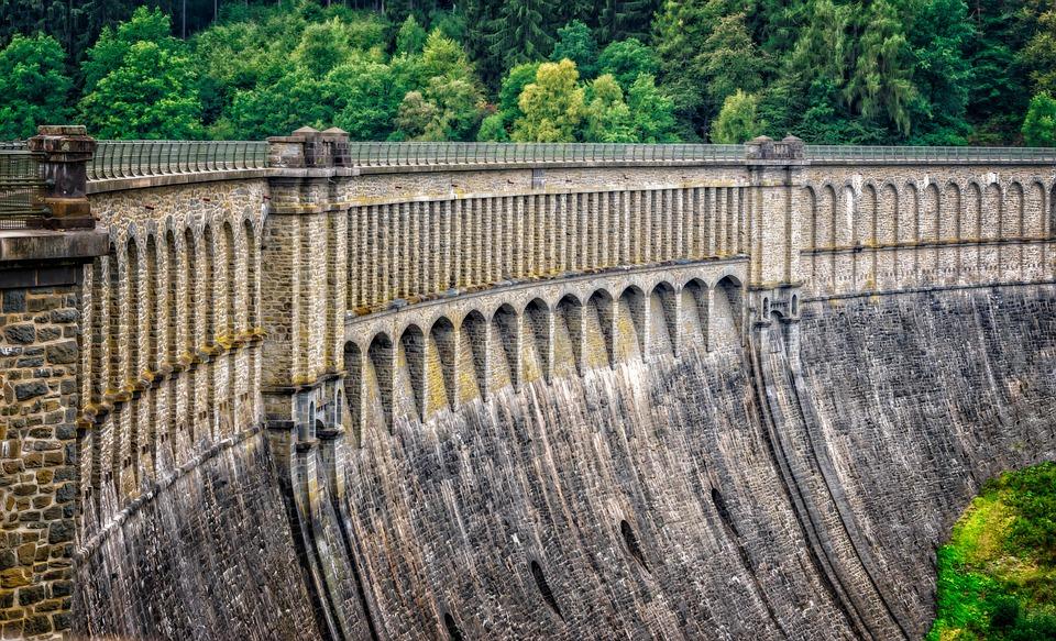 Dam, Wall, Barrier Wall, Hold Back, Masonry