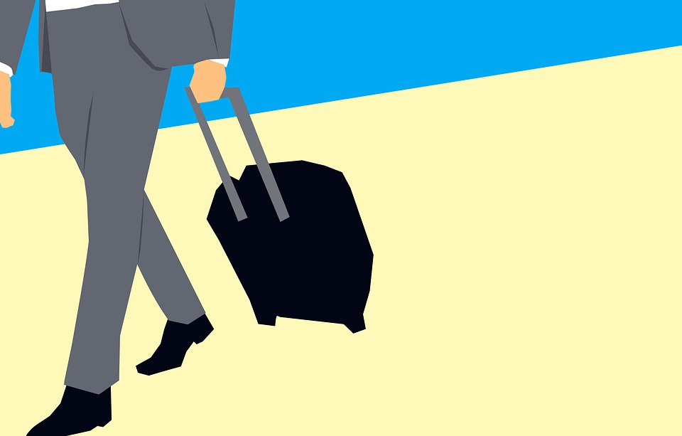 Businessmen, Hold, Luggage, Business Trip