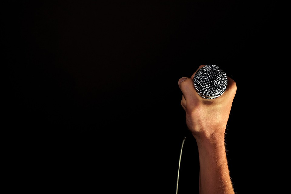 Hand, Microphone, Mic, Hold, Fist, Isolated, Black