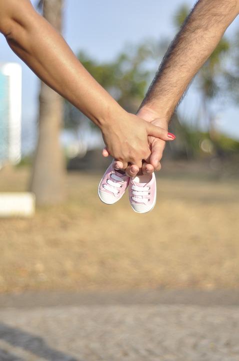 Feet, Baby, Child, Hand, Holding, Maternity