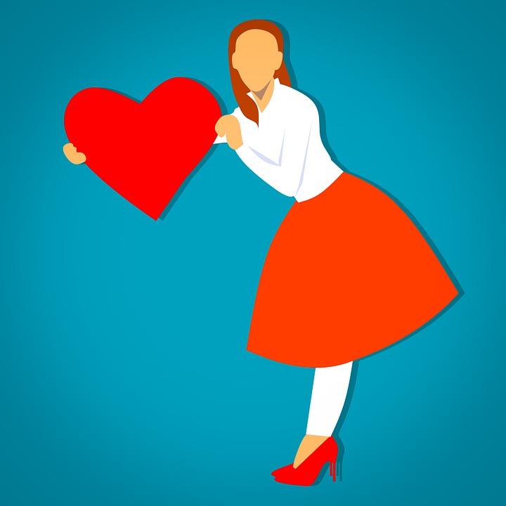 Free Photo Holding Full Body Heart Symbol Woman Dressed Max Pixel