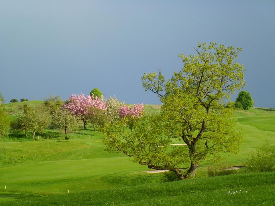 Prato, Golf, Thunderstorm, Sky, Buca, Sand, Holes