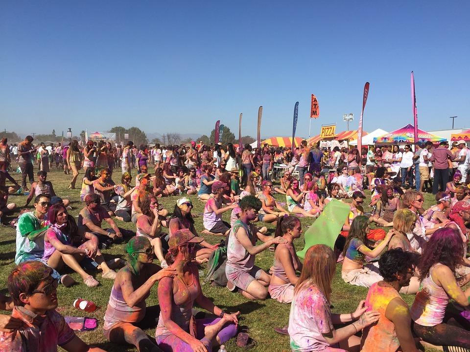 Holi, Paint, Yoga, Festival, Holi Festival, Powder