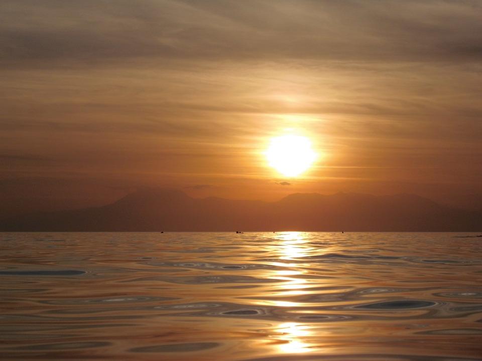 Sun, Sunset, Afterglow, Holiday, Sky, Sea, Evening Sky