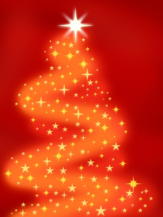 Abstract, Background, Red, Orange, Star, Stars, Holiday