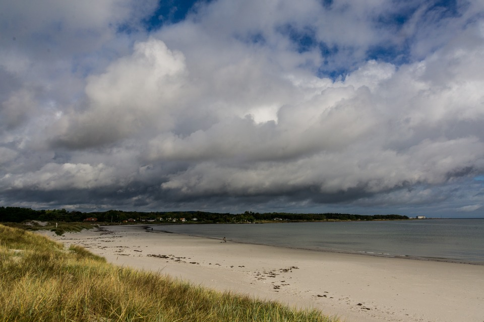Beach, Sea, Clouds, Dunes, Holiday, Baltic Sea, Summer