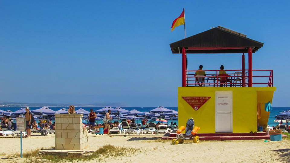 Beach, Lifeguard Tower, Summer, Sea, Vacation, Holiday