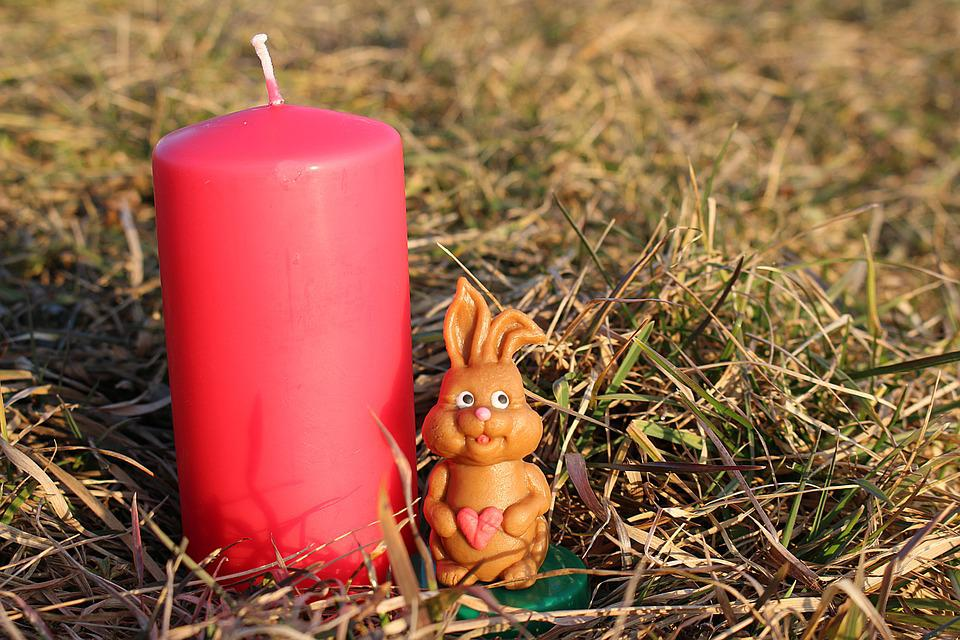 Easter Bunny, Candle, Easter, Holiday