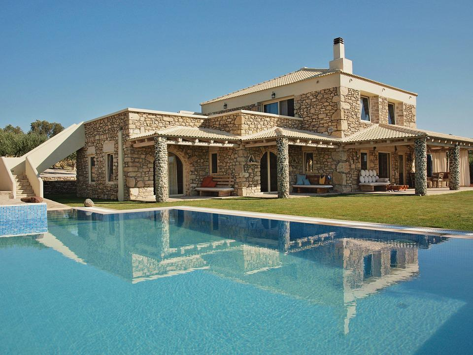 Home, Stone House, Villa, Architecture, Holiday House