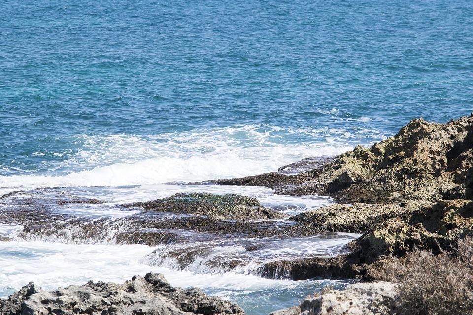 Sea, Water, Rocks, Holiday, Summer, Blue, Nature, Sand