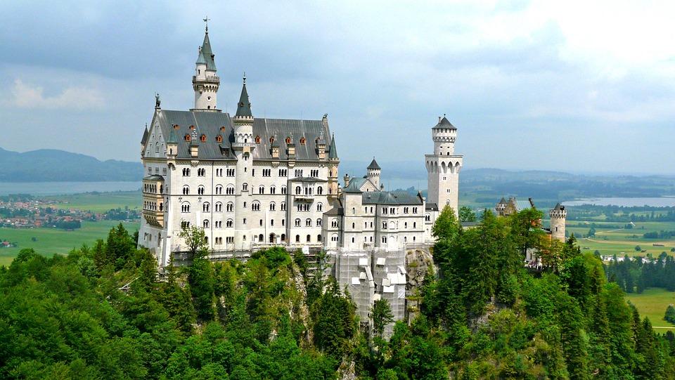 Neuschwanstein, Castle, Summer, Holiday, Holidays, Trip