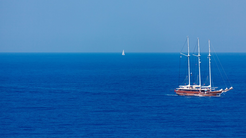 Blue, Boat, Holiday, Horizon, Ocean, Sail, Sea, Ship