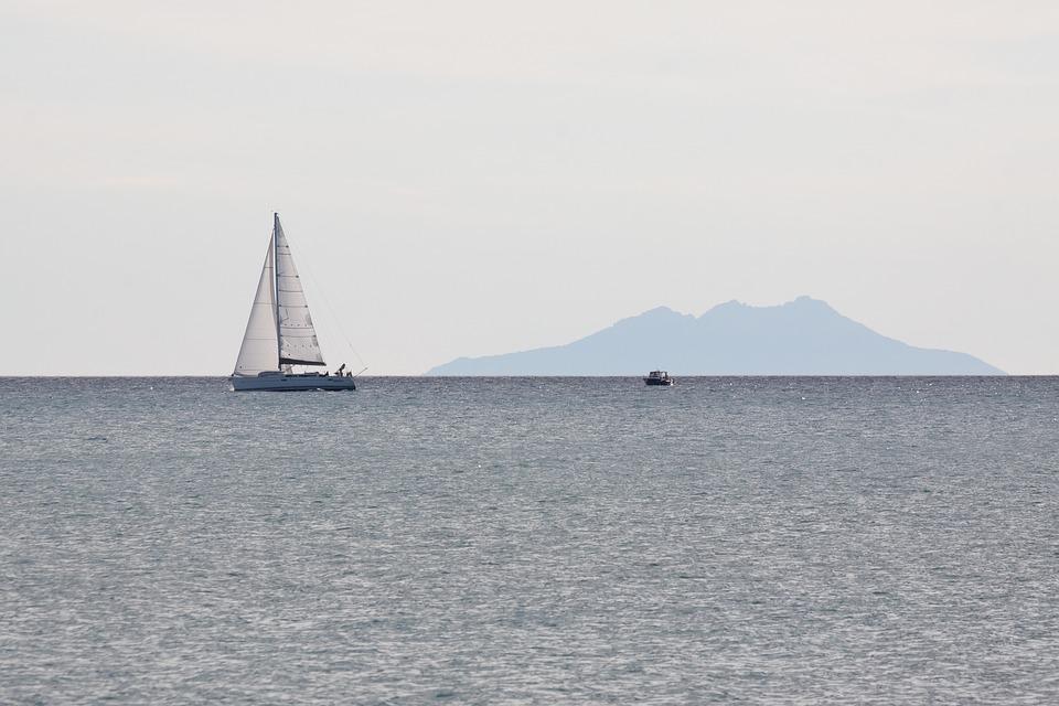 Sailing Boat, Sea, Sail, Ocean, Holiday, Mediterranean