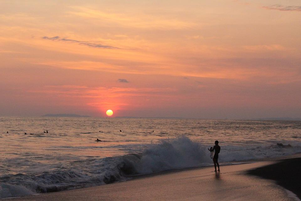 Beach, Costarica, Holiday, Horizon, Peaceful, Sunset