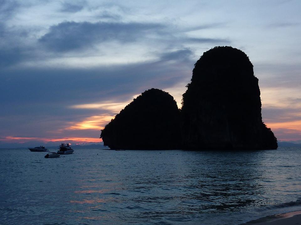 Thailand, Railey Beach, Water Rocks, Cliff, Holiday