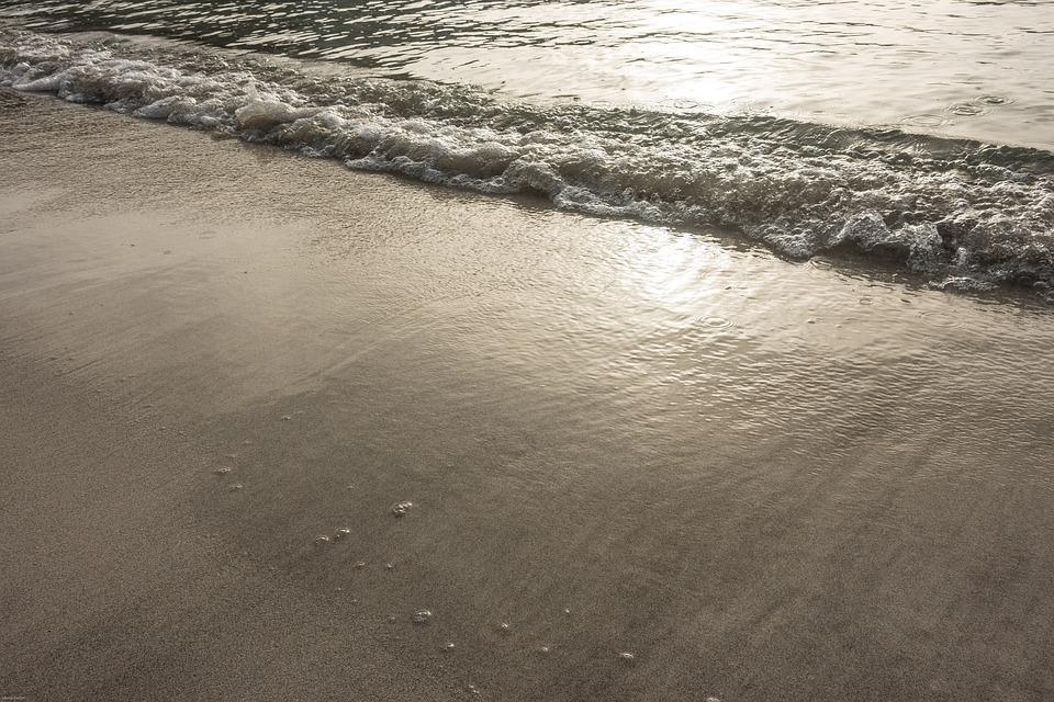 Beach Sea, Holiday, Wave, Water, Reflections