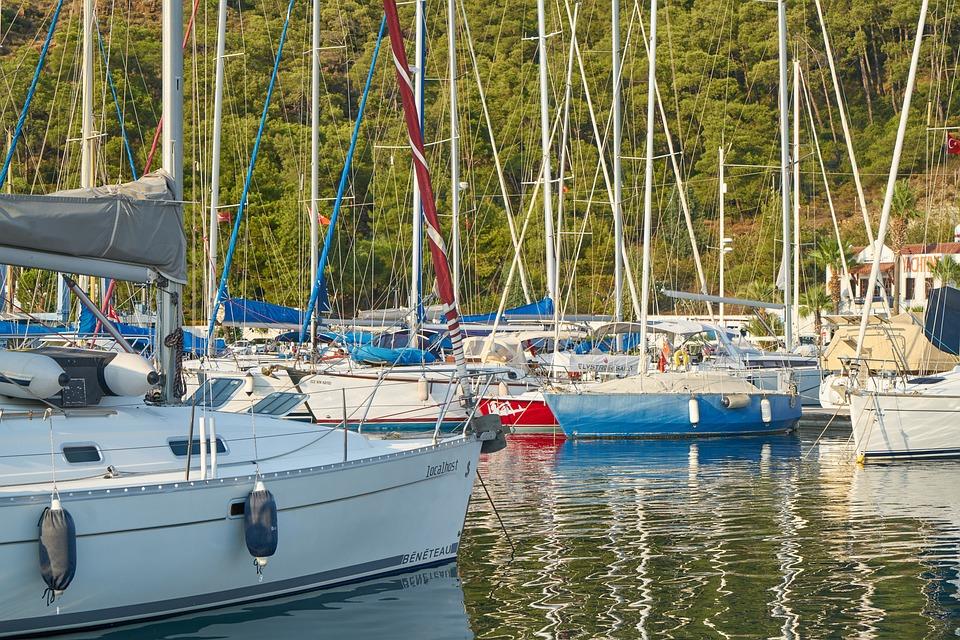 Marina, Boats, Sailboat, Reflection, Beautiful, Holiday