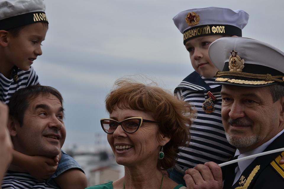 Family, Generation, Holiday, Navy, Russia, Sea, Sailor