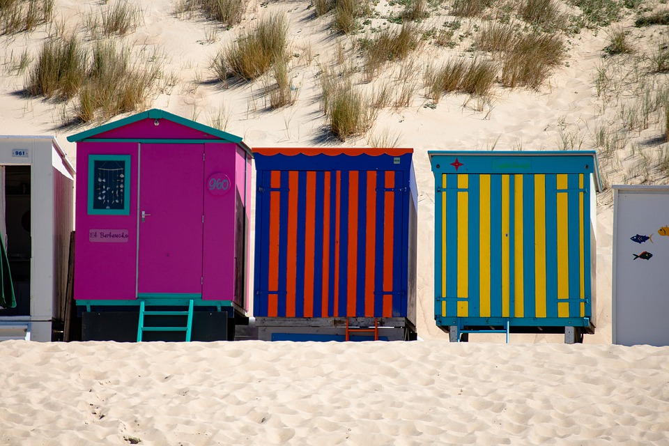 Houses, Beach, Sand, Holiday, Nature, Coast, Travel