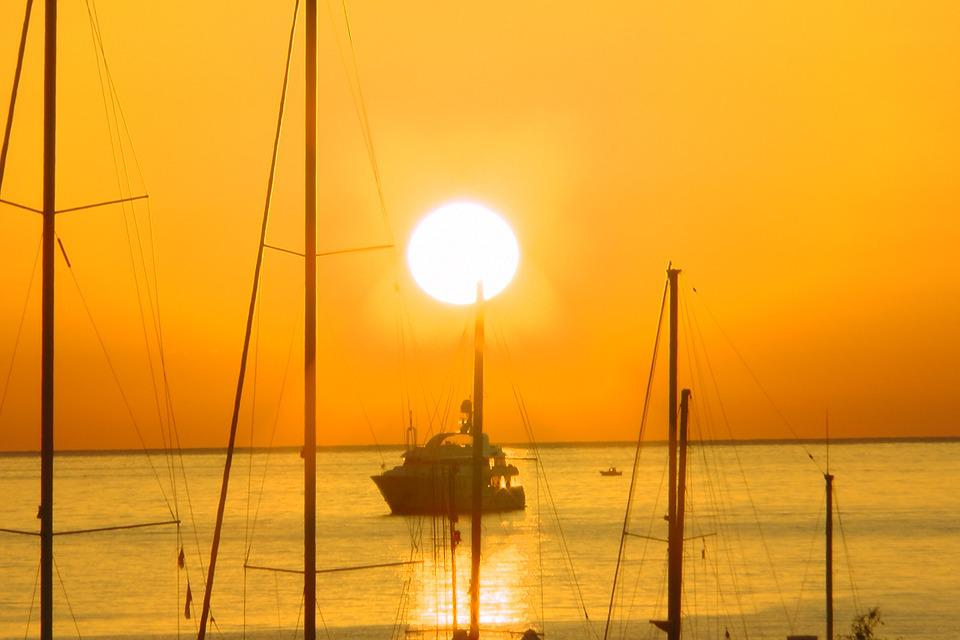 Sunrise, Sun, Holiday, Sea, Italy, Sicily