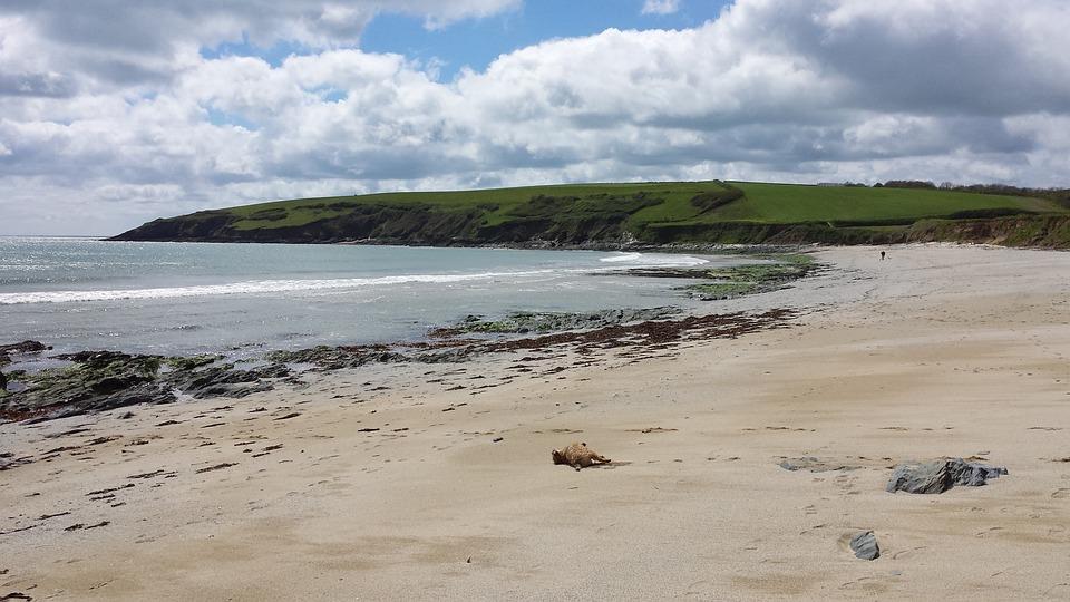 Devon, Beach, Coast, Uk, Sea, Water, Sky, Holiday, Rock