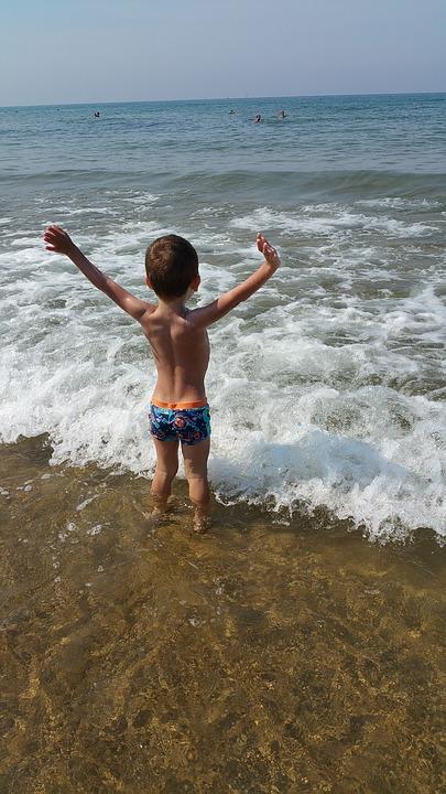 Sea, Summer, Holiday, Holidays, Sun, Hot, Child, Bimbo