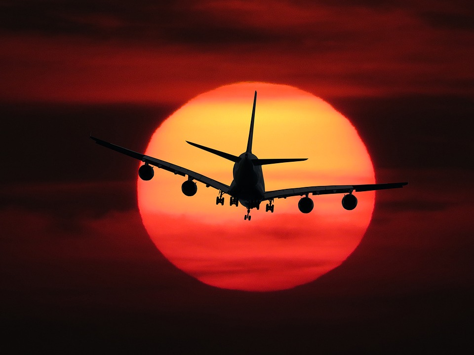 Emotions, Fly, Aircraft, Sun, Sunset, Sunrise, Holiday