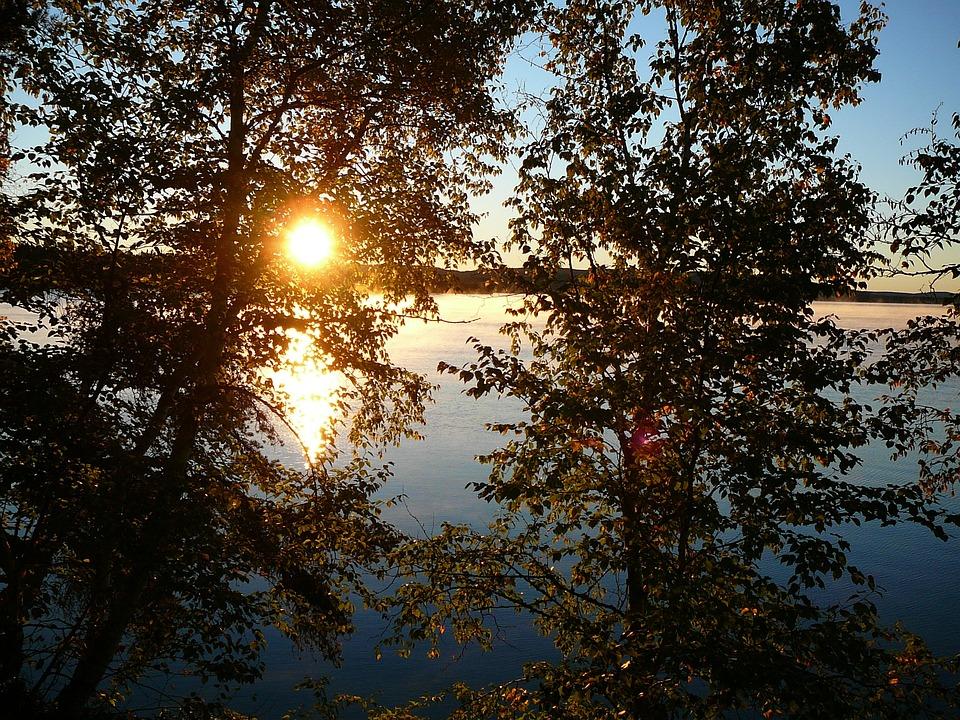 Landscape, Summer, Holiday, Sunset, Twilight, Water