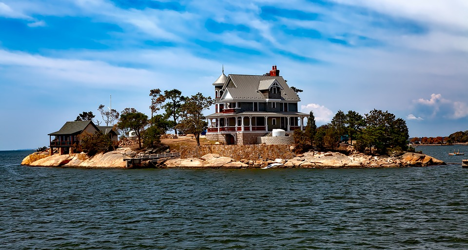 Thimble Islands, Island, House, Home, Vacation, Holiday