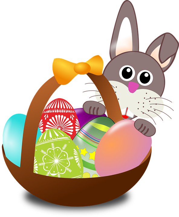 Easter, Bunny, Eggs, Nest, Basket, Holidays, Decoration