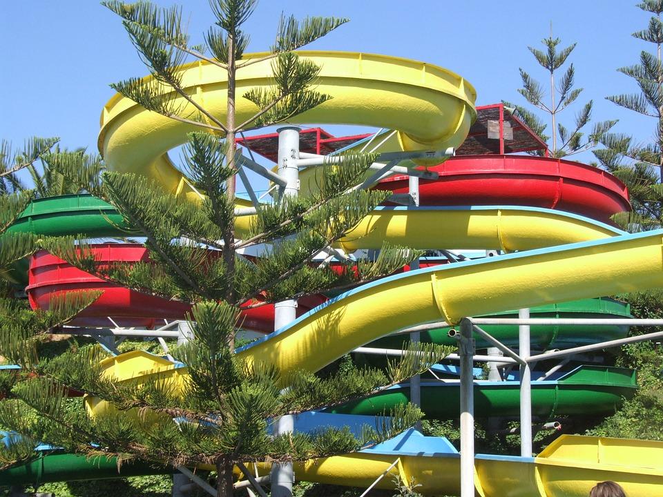 Yellow, Fun, Pools, Water Park, Holidays, Summer