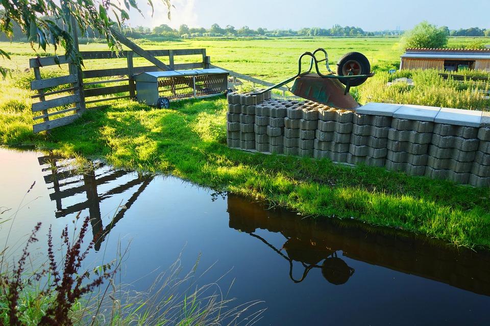 Holland, Landscape, Dutch Landscape, Wheelbarrow