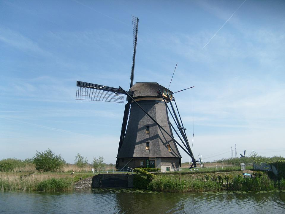 Windmill, Holland, Kinderdijk