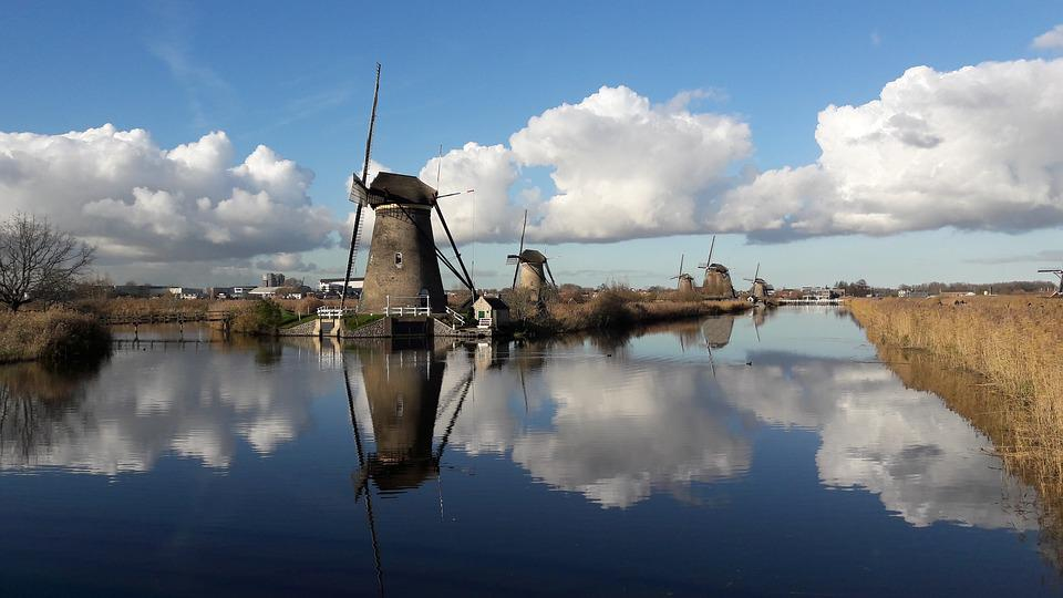 Kinderdijk, Mill, Mills, Netherlands, Holland, Wicks