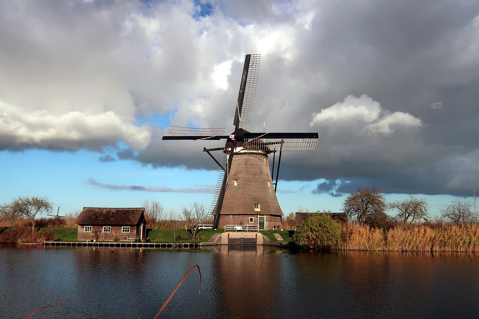 Kinderdijk, Mill, Wind Mill, Netherlands, Holland