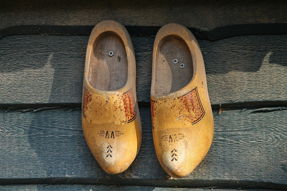 Wooden Shoes, Clogs, Netherlands, Holland, Pair