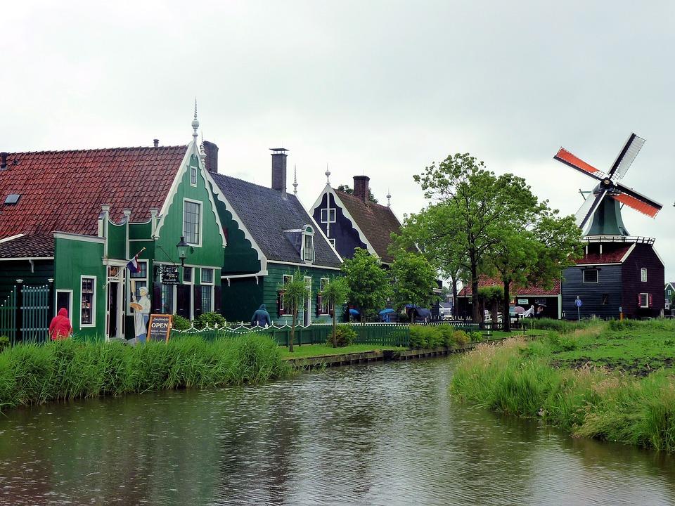 Windmill, Holland, Netherlands, Zaanse Schans, Historic