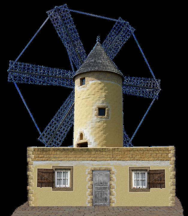 Windmill, Mill, Dutch Windmill, Holland, Old, Pinwheel