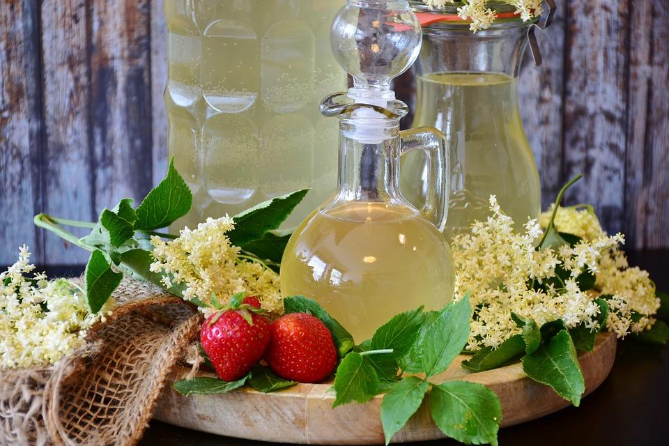 Elder, Syrup, Lemon, Holler, Blossom, Bloom, Holder