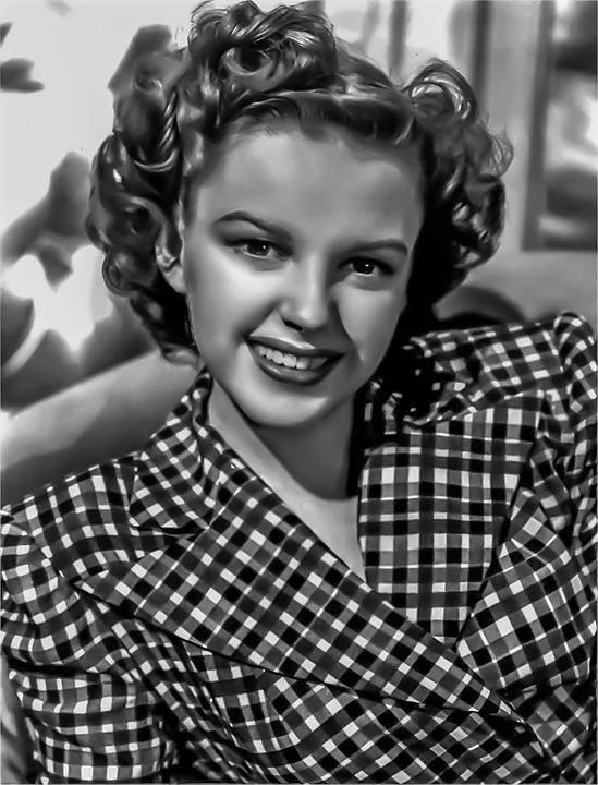 Judy Garland -female, Portrait, Singer, Hollywood