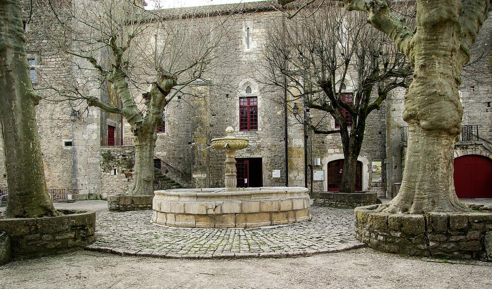 France, Holy Eulalie Of Cernon, Medieval Village, Place