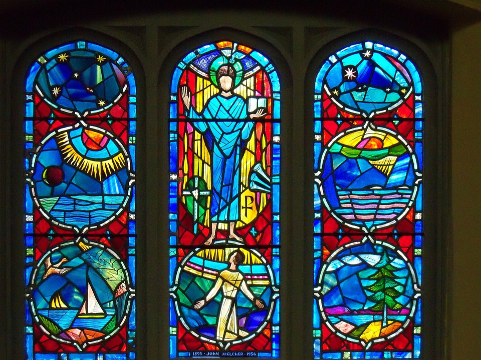 Stained Glass, Windows, Window, Faith, Holy, Religion