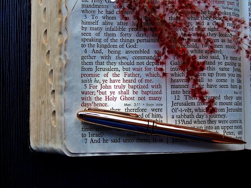 Bible, Verse, God, Pen, Holy Ghost, Holy Spirit, Text