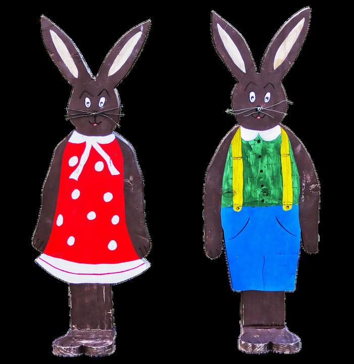 Easter Decoration, Easter, Hare, Holzfigur