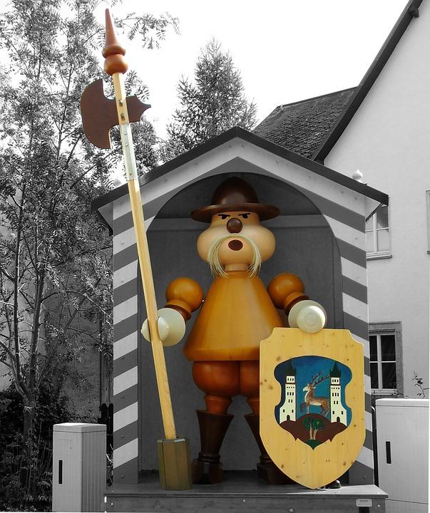 Augustusburg, Saxony, Fig, Holzfigur, Turned, Lacquered