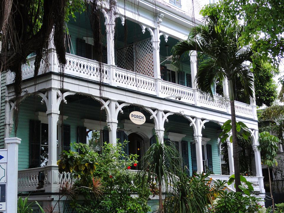 Villa, Home, Key West, Florida, Usa, America