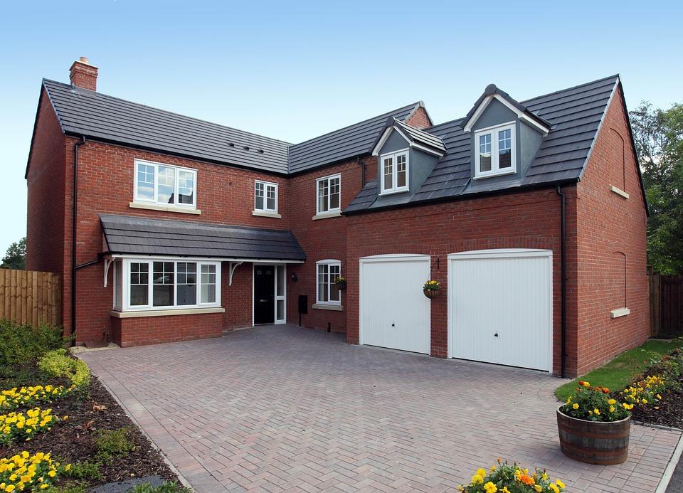 House, Architecture, Driveway, Home, Brick